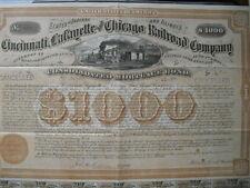 Cincinnati LAFAYETTE and Chicago Railroad Company 1874