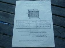 Société des Usines ROSIERES BOURGES CHER 1924 cuisinière fonte à bois houille