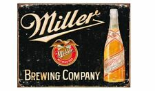 MILLER ICE COLD BEER TIN SIGN 12 X 16  BAR POSTER WALL AND BOTTLE ART