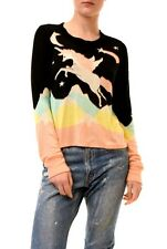 Wildfox Women's Authentic Unicorn Magical Sweater Black Multi S RRP £139 BCF73