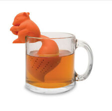Squirrel Silicone Tea Infuser Leaf Strainer Herbal Spice Filter Diffuser