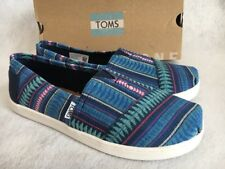 Toms Classic Blue Tribal Woven NEW IN BOX Shoes Womens Youth Size 6