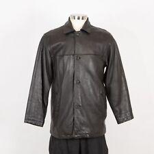 Men's Leather Jacket Size S Small Black J. Park