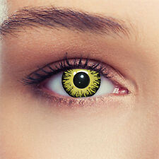 Yellow colored costume contacts demon exorcist contact lenses for halloween