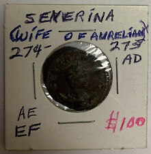 Severina (Wife of Aurelian) 274-275 AD AE Concordia Militum Roman Ancient Coin