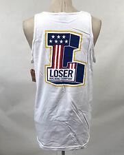 Loser Machine Men's Tank Top Daredevil White Size S NEW American Flag