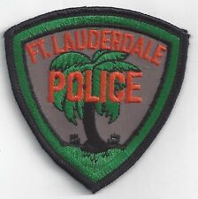 Fort Lauderdale Police Patch Florida Vintage Embroidered Patch Collectible Patch