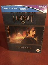 The Hobbit Trilogy Extended Edition [3D & 2D Blu-ray Box Set Region Free] NEW