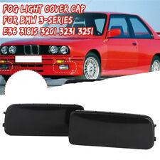 For BMW E36 3-Series 318is 320i 323i 325i Front Fog Light Hole Covers Caps Black