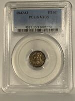 1842-O Liberty Seated Half Dime _ PCGS VF-35 _ No Problems Here !!!