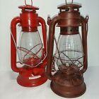"Set of 2 Lanterns Sun Way 215, HMOO Kerosene, Paraffin Unused 1Red 1Wine 13"" T"
