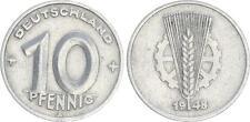 10 Pfennig DDR 1948 a spighe pagina destra con più sottile granne, SS RRR!