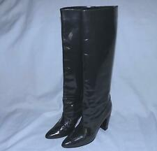 MARNI Patent Leather High Heeled Dress Boots-Size 10M-Dark Gray-Some marks-AS IS