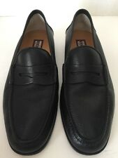 star artioli penny loafers hand made in Italy black 10.5 D guc clean