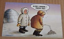"Postcard  Bamforth Comic 48 "" Blimey Nanook Frozen Pea 2 posted 1971"