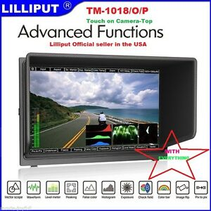 """LILLIPUT 10.1"""" TM-1018/O/P IPS Touch  Monitor Peaking Waveform+Battery+AB mount"""