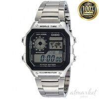 CASIO STANDARD AE-1200WHD-1A Watch Men's Silver Band in Box genuine from JAPAN