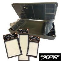 NGT XPR PLUS Tackle Box and 60 PVA Bags Set Rig Wallet Terminal Fishing