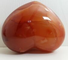 0.4LB Carved CARNELIAN Red Agate Heart BEST Quality