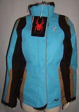 Spyder Women Blue, Beige & Black Ski Jacket 5,000mm Size 10 retail $425