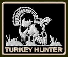 """TURKEY HUNTER EMBROIDERED PATCH ~3-1/4"""" x 2-3/4"""" GUNS WILDLIFE ANIMALS AUFNÄHER"""