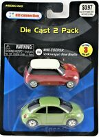 Kid Connection Die-Cast 2 Pack VW New Beetle & Mini Cooper 15080-1601
