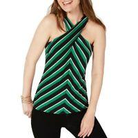 INC NEW Women's Twist-neck Striped Halter Blouse Shirt Top TEDO