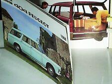 BEAU CATALOGUE 1968 PEUGEOT 404 FAMILIALE, COMMERCIALE, BREAK LUXE, DIESEL