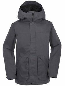 New 2018 Volcom Mens Clintons Snowboard Jacket Small Vintage Black