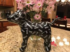 Victoria's Secret PINK Dog Plush Stuffed Large Logo Black NEW NWT LOVE PINK DOGS