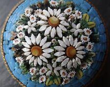 Antico Vittoriano fine micro mosaico Daisy Fiore Spilla A Cerniera C PIN-C852