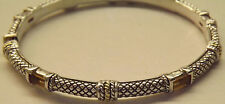 Mayors Jewelers Bangle Bracelet Sterling Silver18k Gold Citrine by Andrea Candel