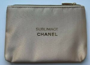CHANEL COSMETIC/MAKEUP BAG POUCH CLUTCH GOLD SUBLIMAGE VIP GIFT