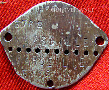 PLAQUE IDENTITE DOG TAG  FRANCE WWII  MARSEILLE CLASSE 1934