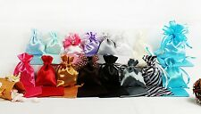 "3""x 4""/ 4""x 6"" Satin Favor Bag wedding Pouch Multi-Color Personalized Printing"