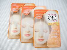 Daiso Japan Cosmetics Coenzyme Q10 Face Mask Sheet with 3 Sheets Included