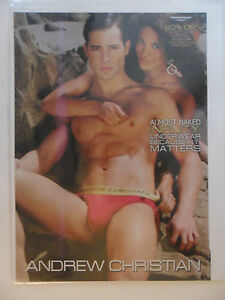 2011 Print Ad Andrew Christian Men's Red Underwear Briefs ~ Almost Naked