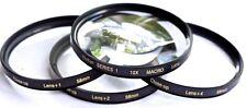 4Pcs Vivitar Macro +1/+2/+4/+10 Lens Set For Fujifilm Finepix HS35EXR HS50EXR