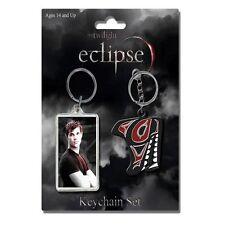 Twilight Jacob Black Wolf Logo Eclipse 2 Schlüsselanhänger Keychain Set NECA