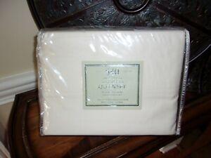 NIP Macys Fine Linens 540TC Ivory 100% Cotton Sateen Sheet Set 4pc