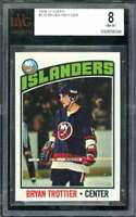 Bryan Trottier Rookie Card 1976-77 Topps #115 BGS BVG 8
