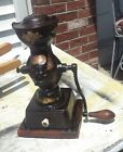 .Antique 1873 Enterprise Cast Iron Coffee Grinder. with all decals present