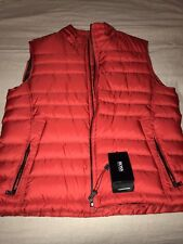 NEW Authentic HUGO BOSS Black Label Men Red Real Down Puffy Vest 38R Medium $395