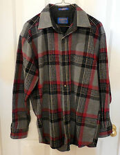 Men Pendleton wool western plaid Shirt Size M long sleeve USA  G198