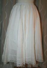 M weißer Folklore Trachten Unterrock aus Baumwolle  mit breitem  Bund