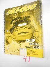 2000 SKI-DOO SNOWMOBILE SHOP VOLUME 1 MANUAL  484 200 011