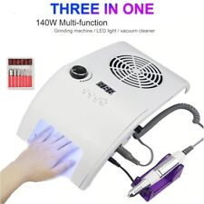 Nail Drill Machine Kit 35000RPM UV LED Dry Lamp Vacuum Cleaner Manicure Pedicure