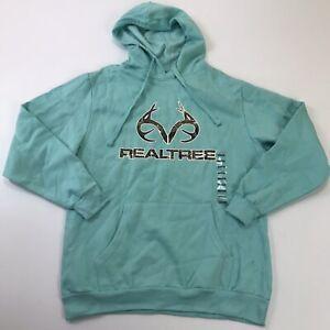 NEW Realtree Adult Outdoor Hunting Logo Deer Hoodie Sweater Jacket Men's Medium