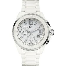 BRAND NEW GUESS COLLECTION GC X76015G1S WHITE CERAMIC CHRONOGRAPH MEN'S WATCH