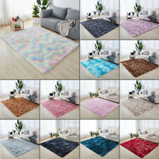 Tie Dye Fluffy Rug Anti-Slip Shaggy Rug Super Soft Mat Living Room Floor Bedroom